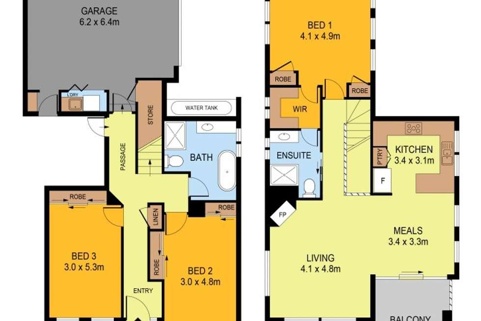 Floorplan of Homely house listing, 1/488 Hargreaves Street, Bendigo VIC 3550
