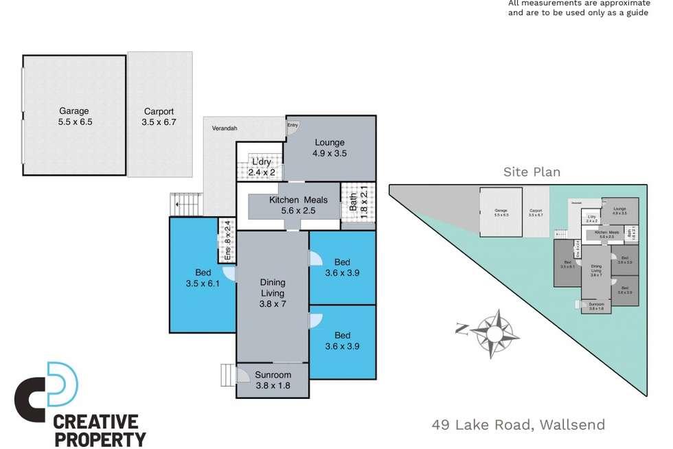 Floorplan of Homely house listing, 49 Lake Road, Wallsend NSW 2287