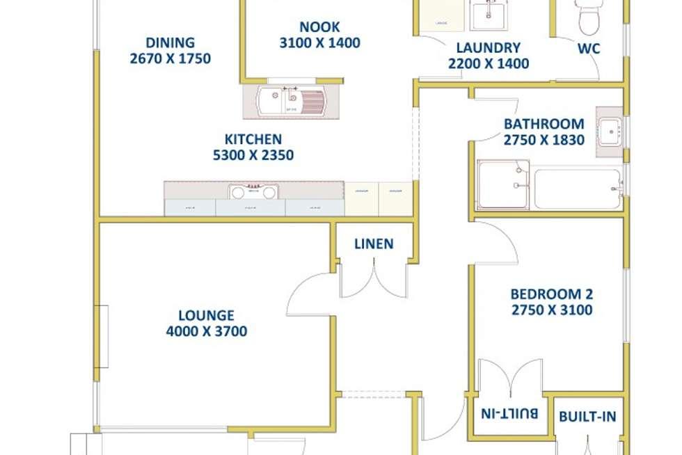 Floorplan of Homely house listing, 83 Wilkinson Avenue, Birmingham Gardens NSW 2287