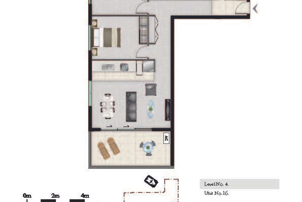 Floorplan of Homely apartment listing, 36/27 Manning, Milton QLD 4064