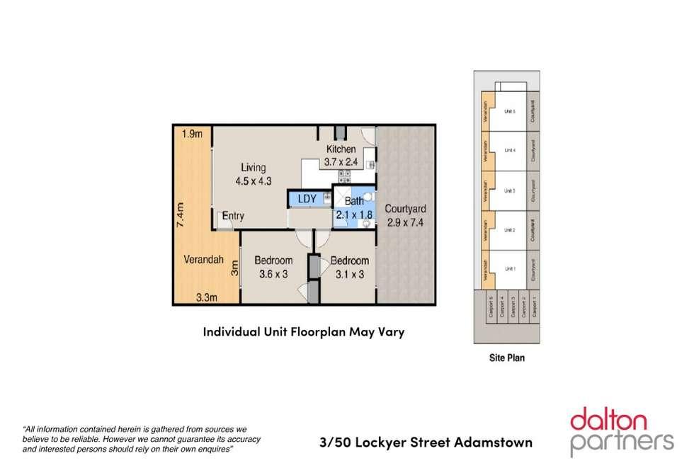 Floorplan of Homely unit listing, 3/50 Lockyer Street, Adamstown NSW 2289