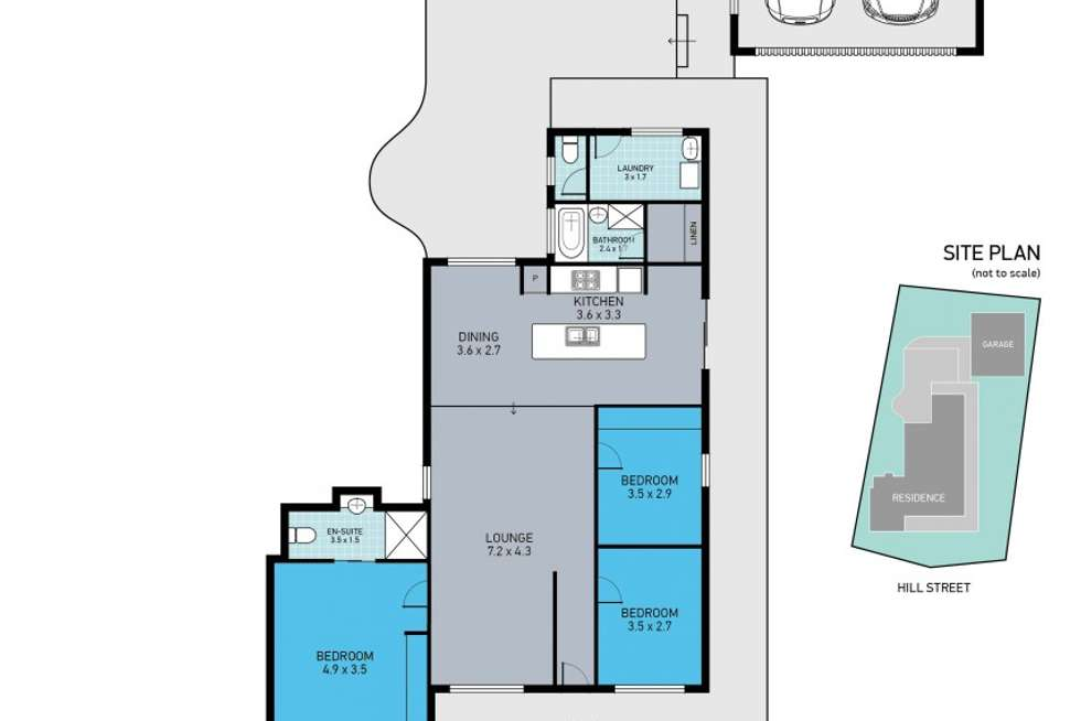 Floorplan of Homely house listing, 41 Hill Street, Wallsend NSW 2287