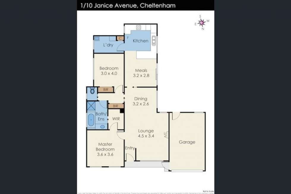 Floorplan of Homely townhouse listing, 1/10 Janice Avenue, Cheltenham VIC 3192