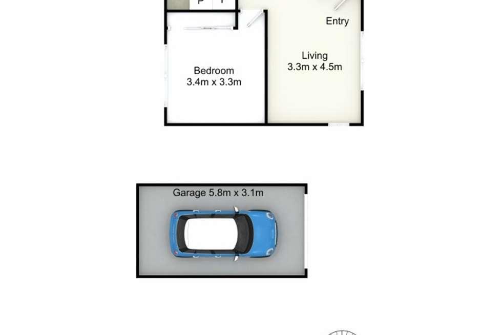 Floorplan of Homely unit listing, 1/111 George Street, East Maitland NSW 2323
