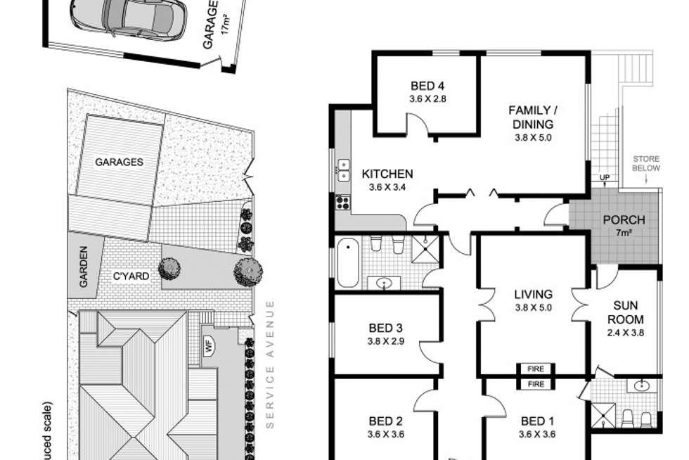 Floorplan of Homely house listing, 1 Hanks Street, Ashfield NSW 2131