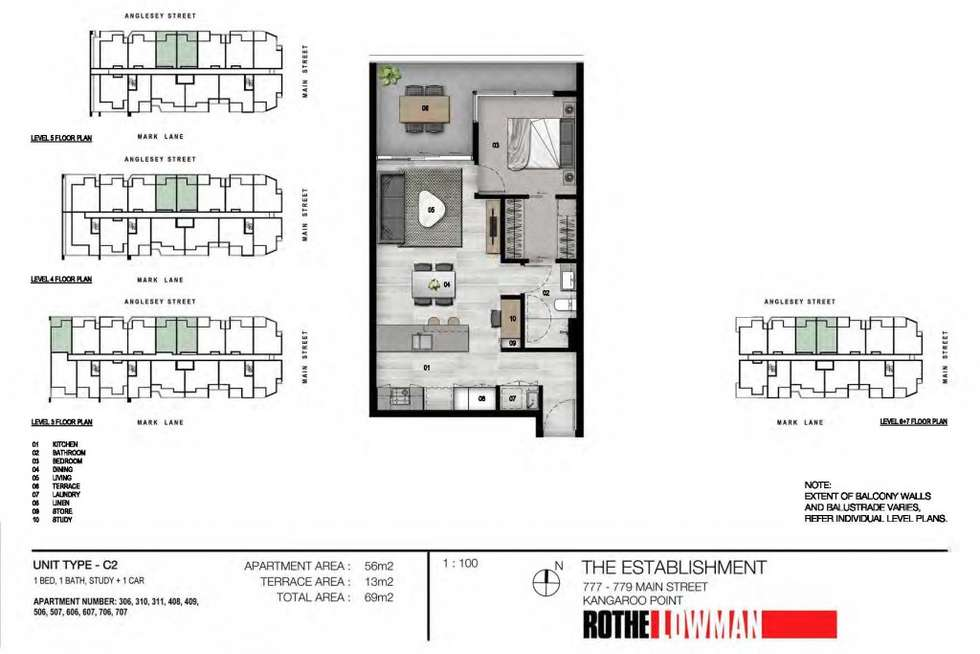 Floorplan of Homely apartment listing, 607/36 Anglesey Street, Kangaroo Point QLD 4169