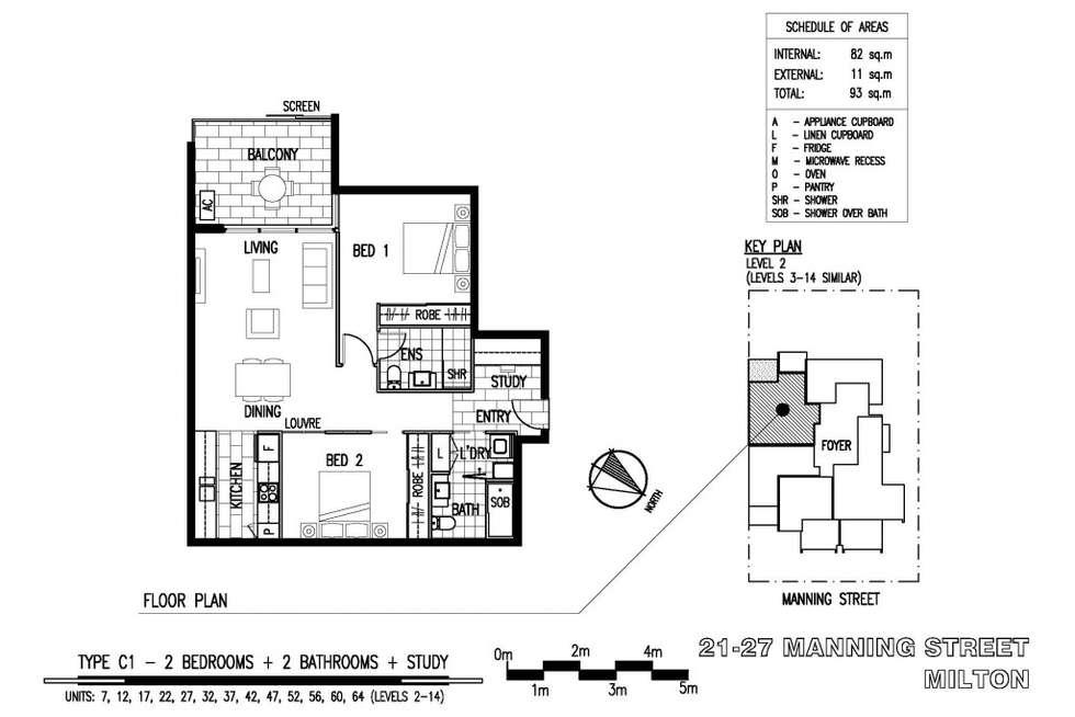 Floorplan of Homely apartment listing, 47/21 Manning Street, Milton QLD 4064