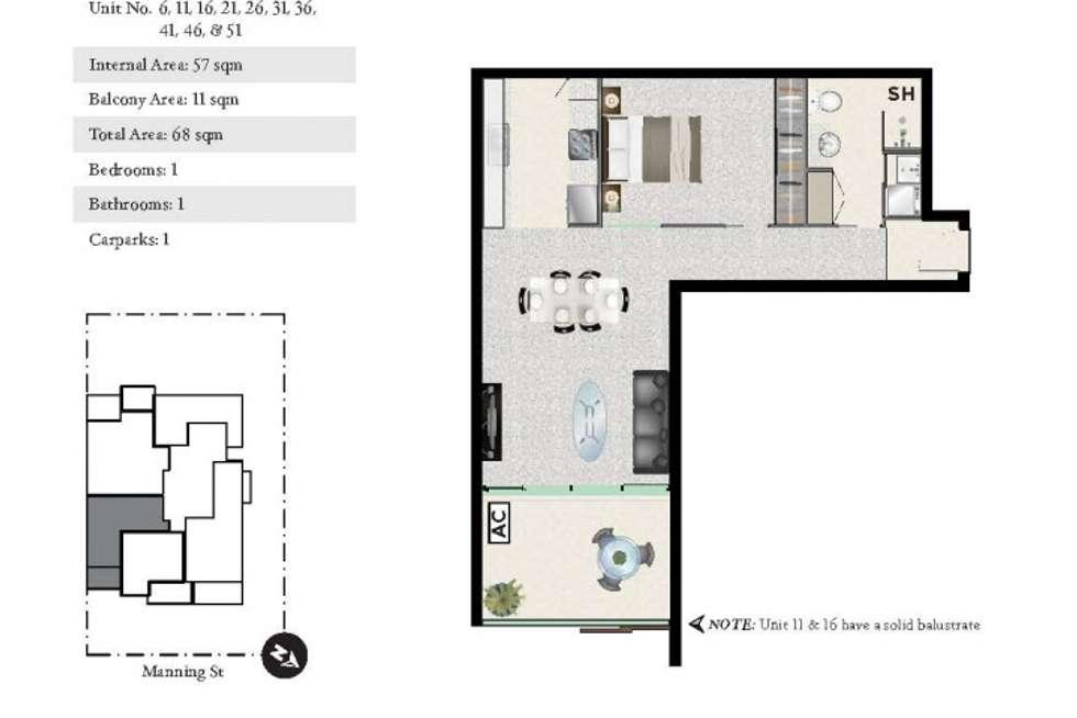 Floorplan of Homely apartment listing, 51/21 Manning Street, Milton QLD 4064