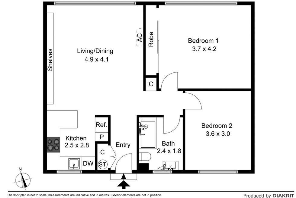 Floorplan of Homely apartment listing, 10/21 Bent Street, Bentleigh VIC 3204
