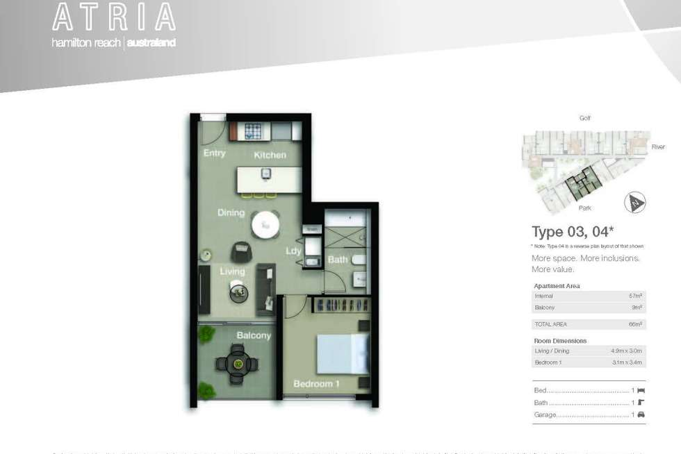 Floorplan of Homely apartment listing, 4303/18 Parkside Circuit, Hamilton QLD 4007