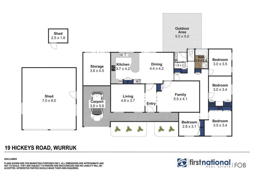 Floorplan of Homely house listing, 19 Hickeys Road, Wurruk VIC 3850
