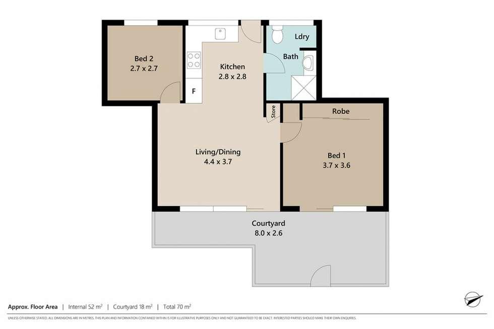 Floorplan of Homely unit listing, 3/17 Oxford Terrace, Taringa QLD 4068