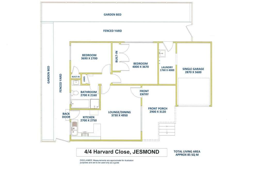 Floorplan of Homely villa listing, 4/4 Harvard Close, Jesmond NSW 2299