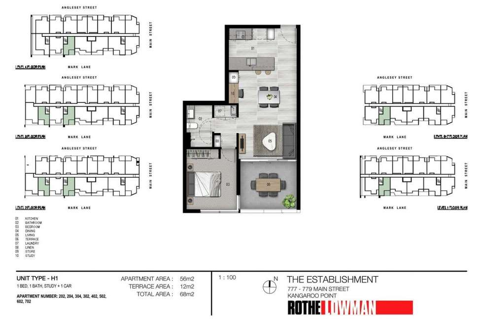 Floorplan of Homely apartment listing, 702/36 Anglesey Street, Kangaroo Point QLD 4169
