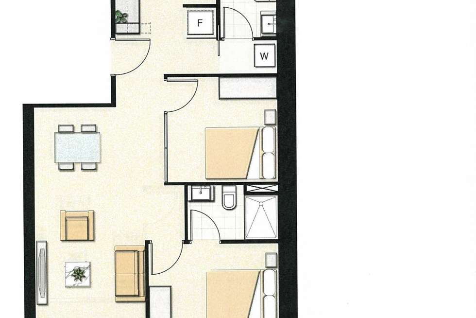Floorplan of Homely apartment listing, 3809/8 Sutherland Street, Melbourne VIC 3000