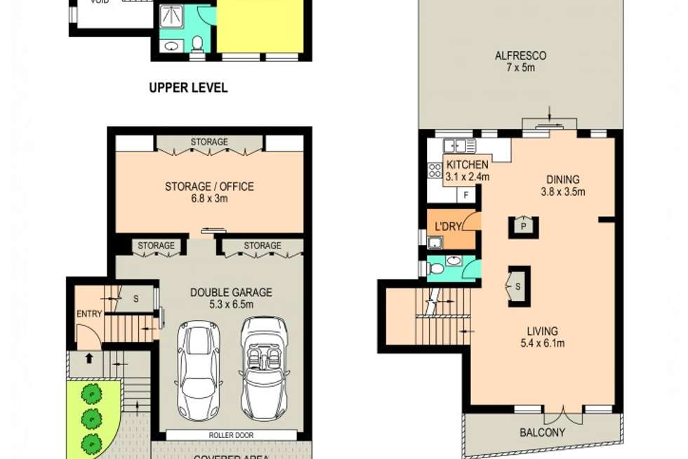 Floorplan of Homely townhouse listing, 22/11-13 Pye Avenue, Northmead NSW 2152