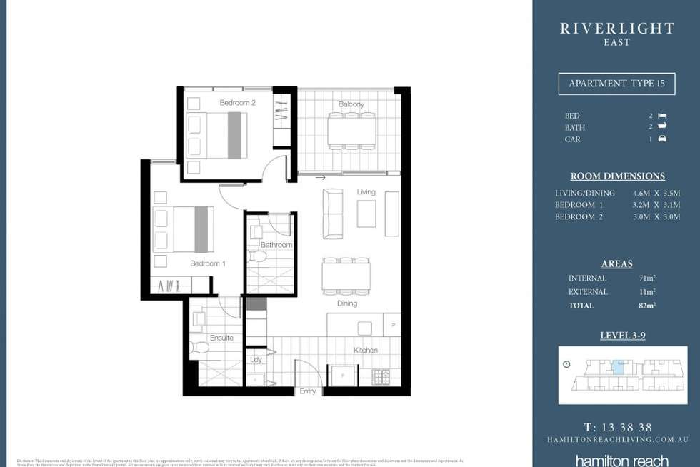 Floorplan of Homely apartment listing, 10615/320 MacArthur Ave, Hamilton QLD 4007