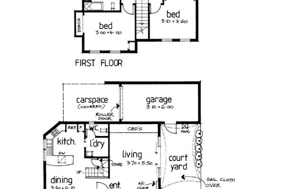 Floorplan of Homely townhouse listing, 1/24 Whitby Street, Brunswick West VIC 3055