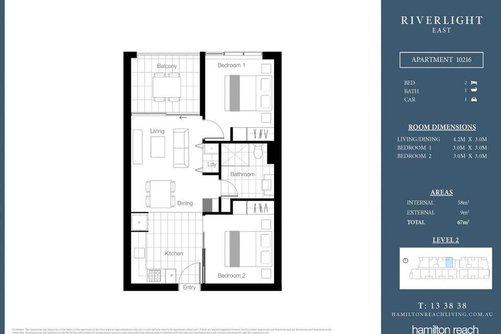 Floorplan of Homely apartment listing, 10216/320 MacArthur Ave, Hamilton QLD 4007