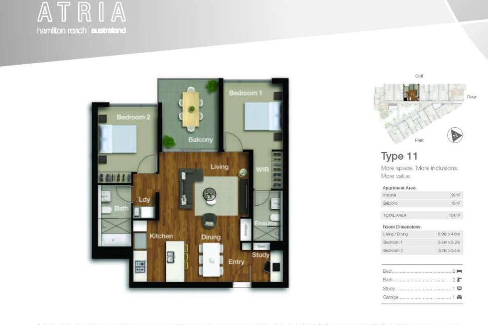 Floorplan of Homely apartment listing, 4311/18 Parkside, Hamilton QLD 4007