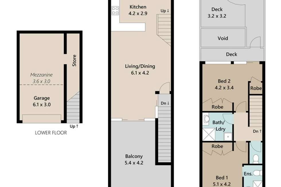 Floorplan of Homely unit listing, 2/47 Bent Street, Toowong QLD 4066