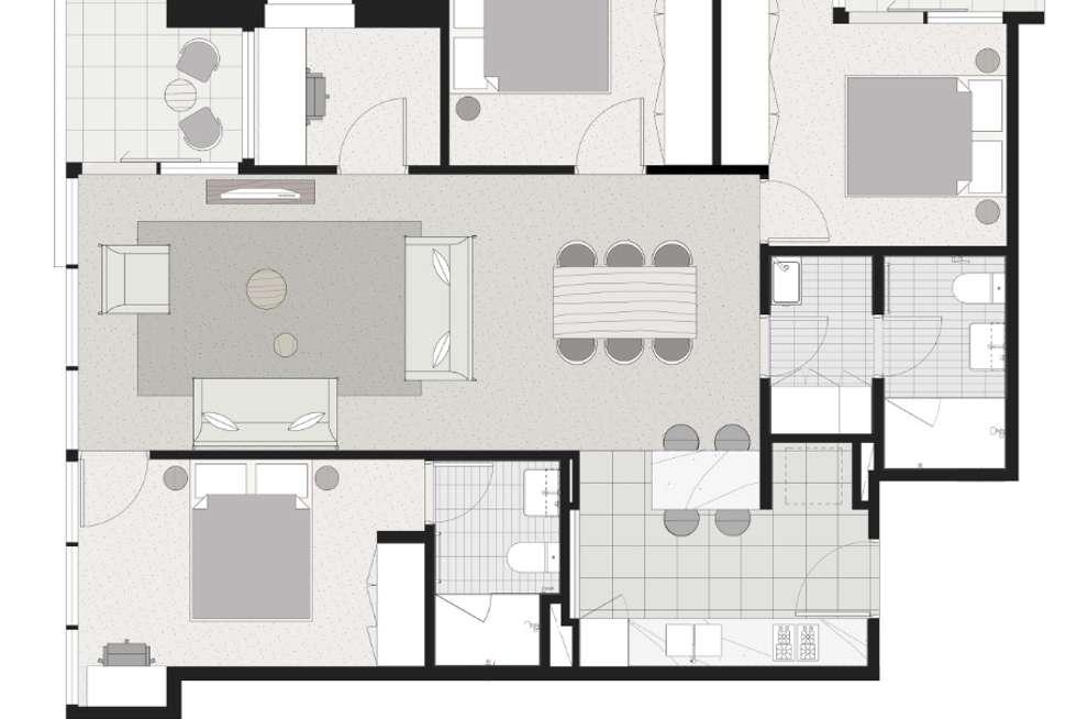 Floorplan of Homely apartment listing, 4503/500 Elizabeth Street, Melbourne VIC 3000