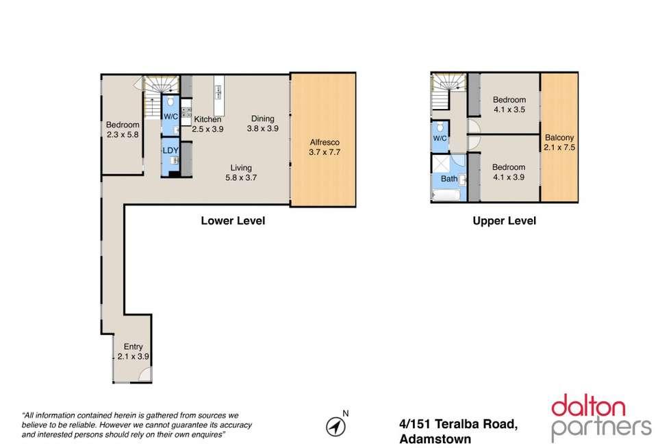 Floorplan of Homely apartment listing, 4/151 Teralba Road, Adamstown NSW 2289