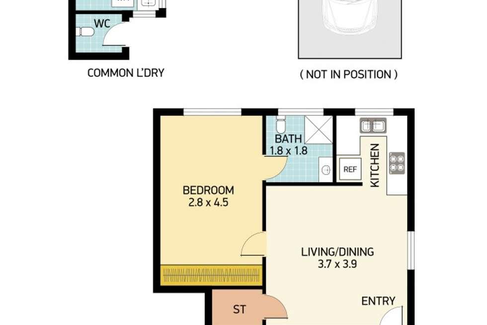 Floorplan of Homely unit listing, 8/84 Regent Street, New Lambton NSW 2305