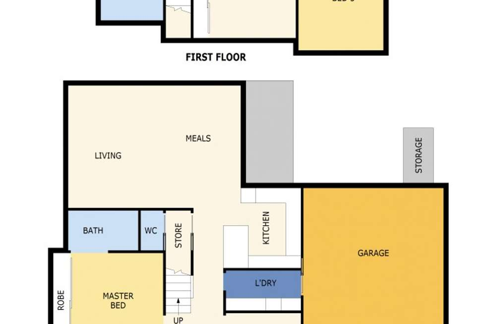 Floorplan of Homely townhouse listing, 1/3 Haines Street, Cheltenham VIC 3192