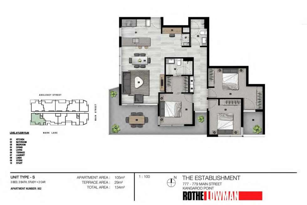 Floorplan of Homely apartment listing, 802/36 Anglesey Street, Kangaroo Point QLD 4169