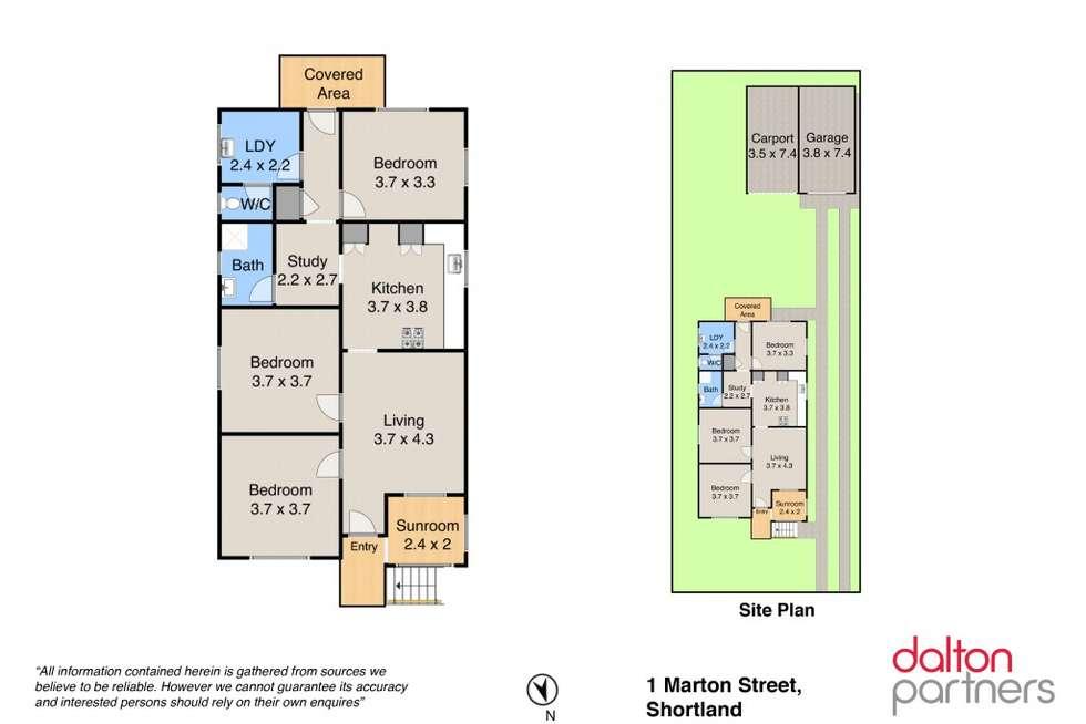 Floorplan of Homely house listing, 1 Marton Street, Shortland NSW 2307