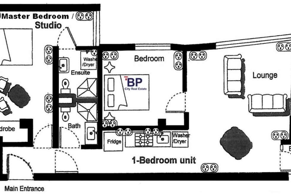 Floorplan of Homely apartment listing, 1601/8 Exploration Lane, Melbourne VIC 3000