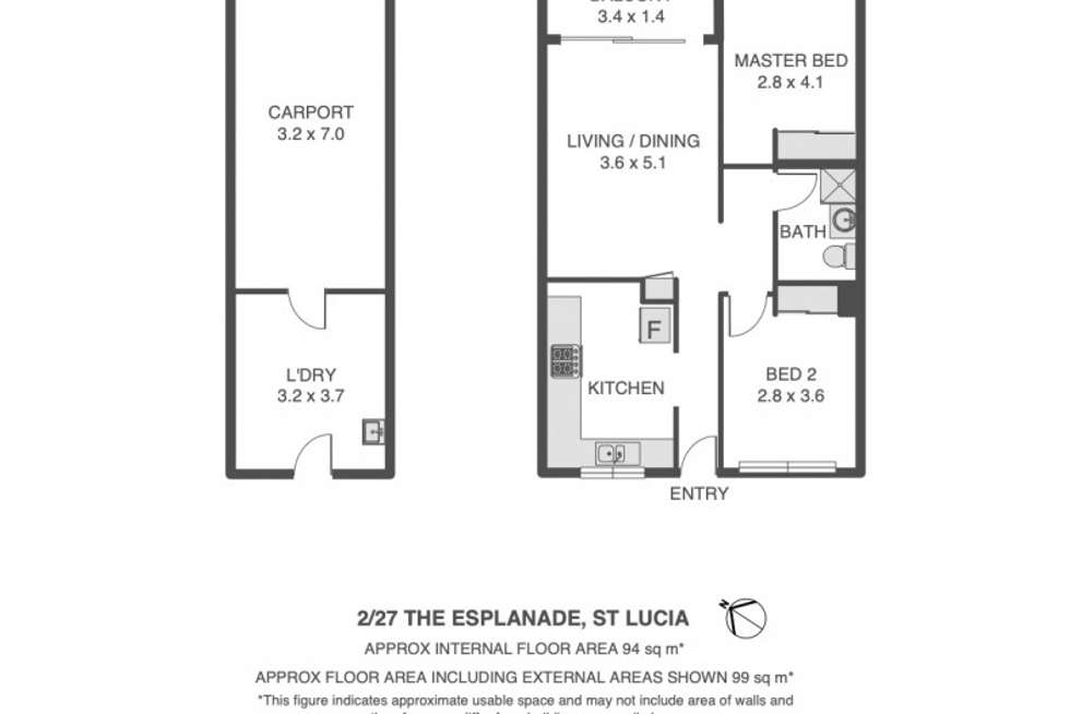 Floorplan of Homely apartment listing, 2/27 The Esplanade, St Lucia QLD 4067
