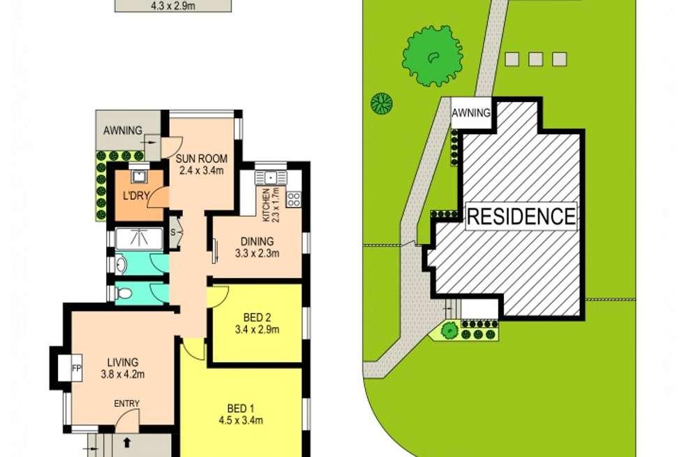 Floorplan of Homely house listing, 55 Briens Road (CNR Hemsworth Ave), Northmead NSW 2152
