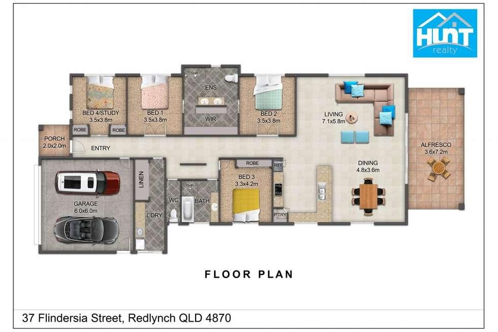 Floorplan of Homely house listing, 37 Flindersia Street, Redlynch QLD 4870