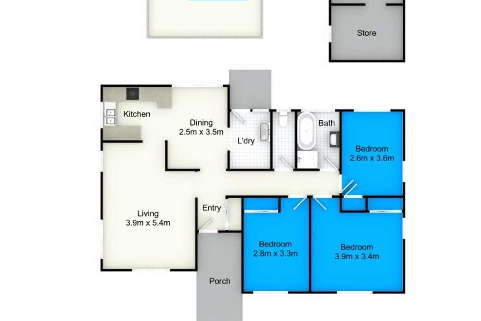 Floorplan of Homely house listing, 4 Ocean Rover Way, Raymond Terrace NSW 2324