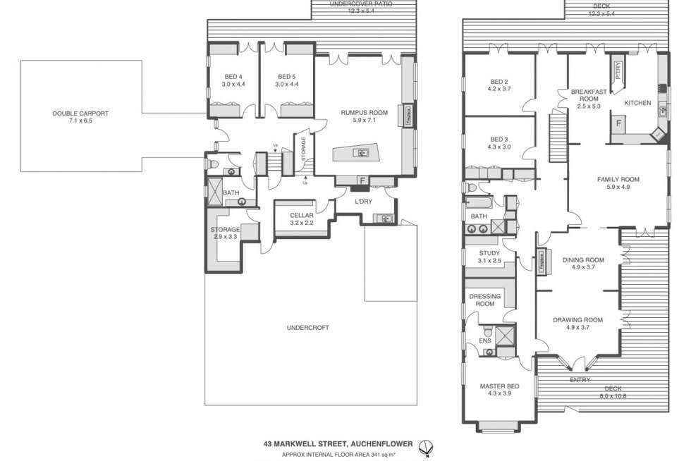 Floorplan of Homely house listing, 43 Markwell Street, Auchenflower QLD 4066