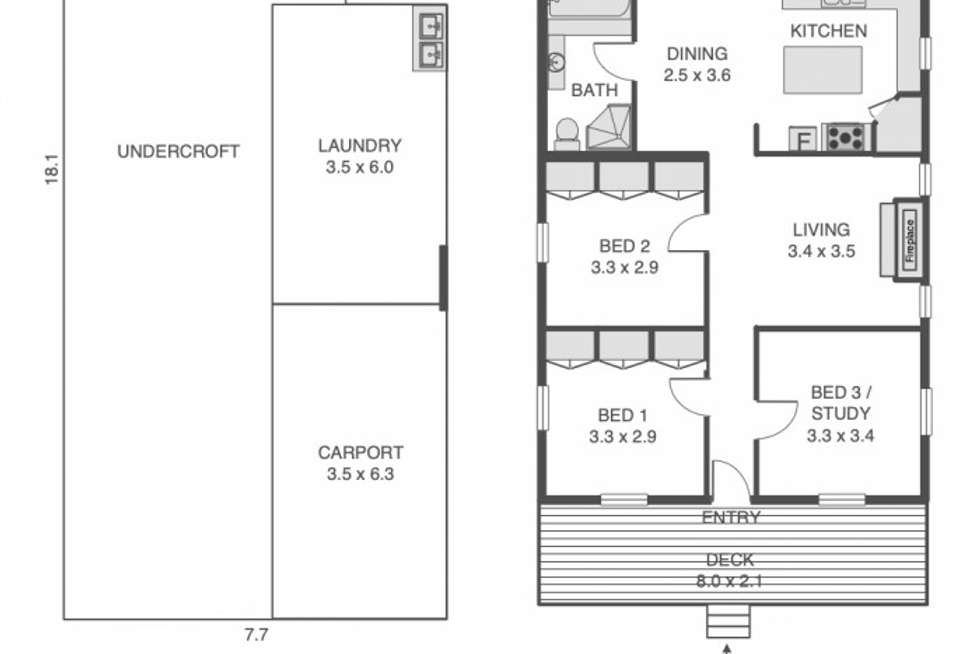 Floorplan of Homely house listing, 46 Zig Zag Street, Red Hill QLD 4059