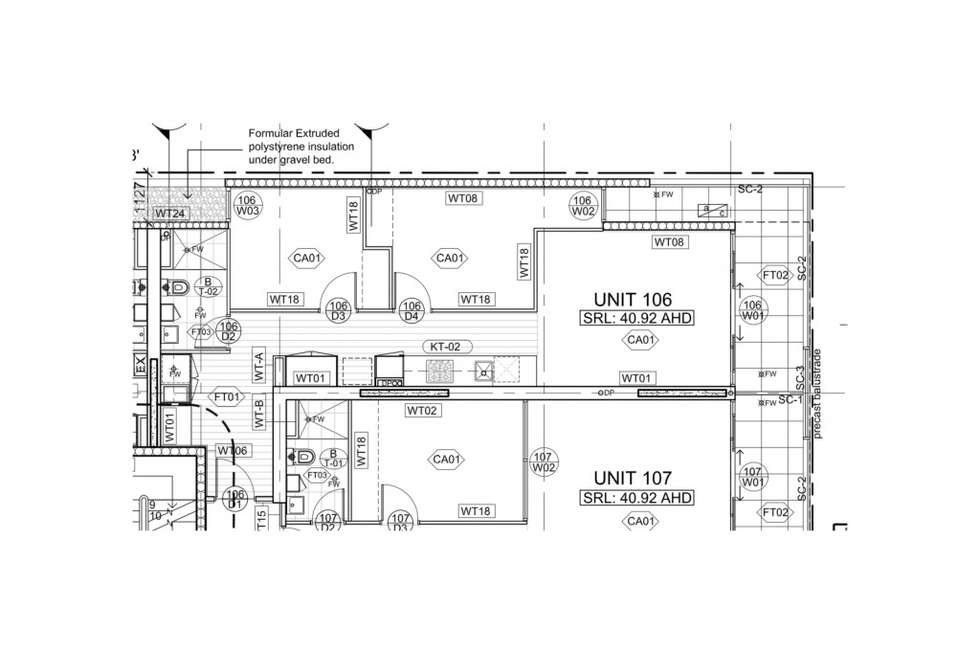 Floorplan of Homely apartment listing, 106/56-58 St. Georges Road, Northcote VIC 3070