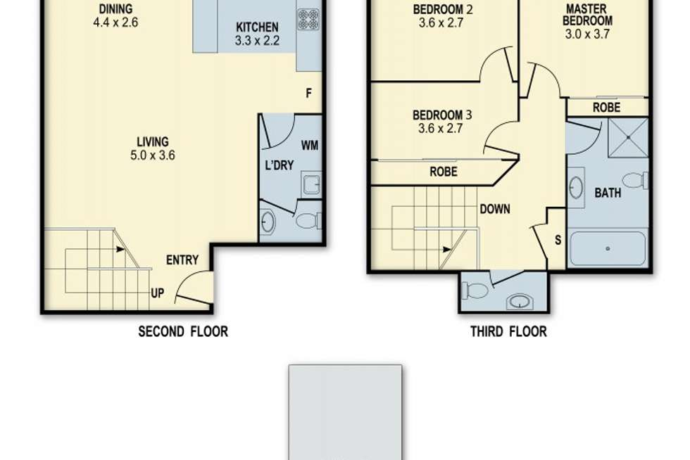 Floorplan of Homely apartment listing, 23/14-16 Campbell Street, Northmead NSW 2152