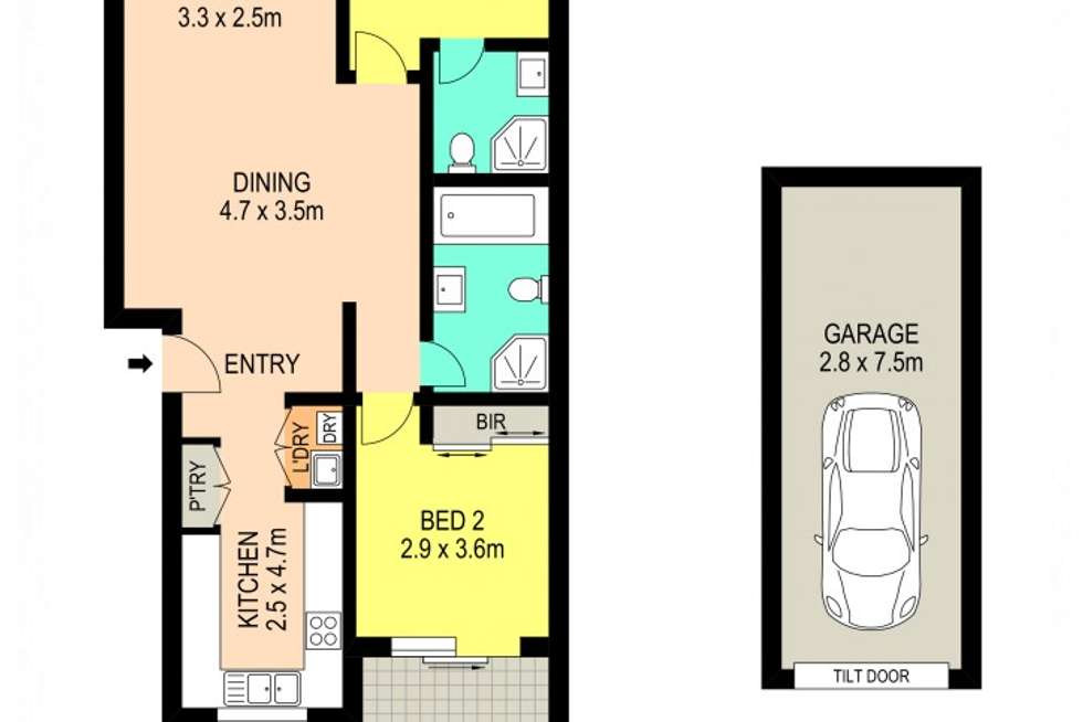 Floorplan of Homely apartment listing, 6/30 Redbank Road, Northmead NSW 2152