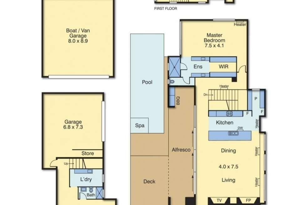 Floorplan of Homely house listing, 21 Prescott Avenue, Mount Martha VIC 3934