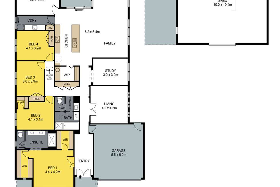 Floorplan of Homely house listing, 140 Sunrise Crescent, Lockwood South VIC 3551