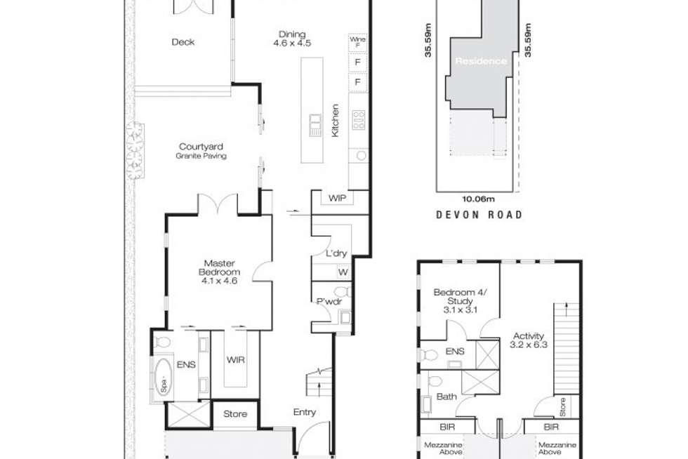 Floorplan of Homely house listing, 36A Devon Road, Swanbourne WA 6010