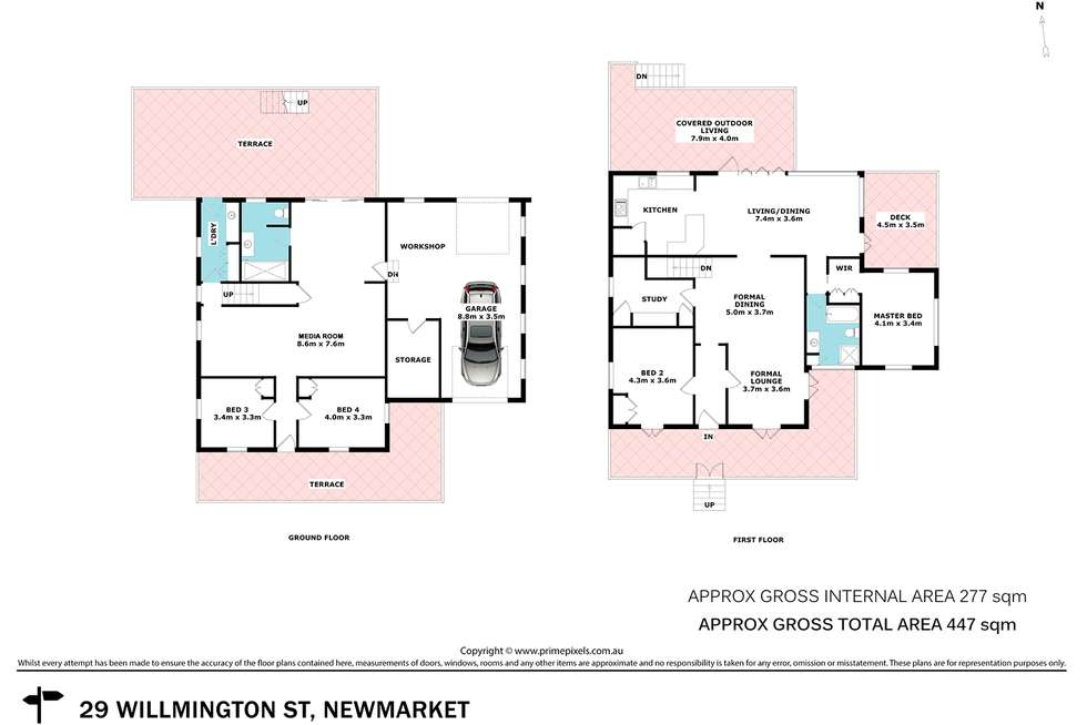 Floorplan of Homely house listing, 29 Willmington Street, Newmarket QLD 4051