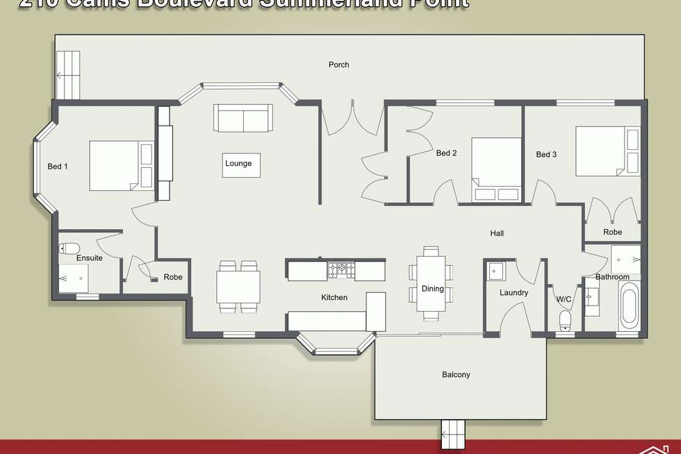 Floorplan of Homely house listing, 210 Cams Boulevard, Summerland Point NSW 2259