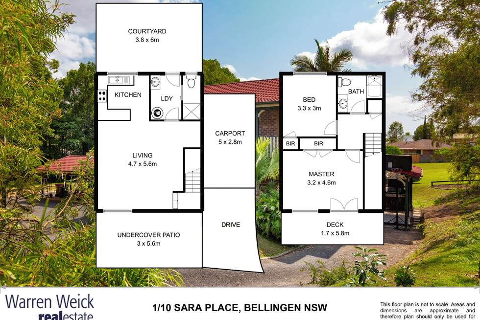 Floorplan of Homely house listing, 1/10 Sara Place, Bellingen NSW 2454