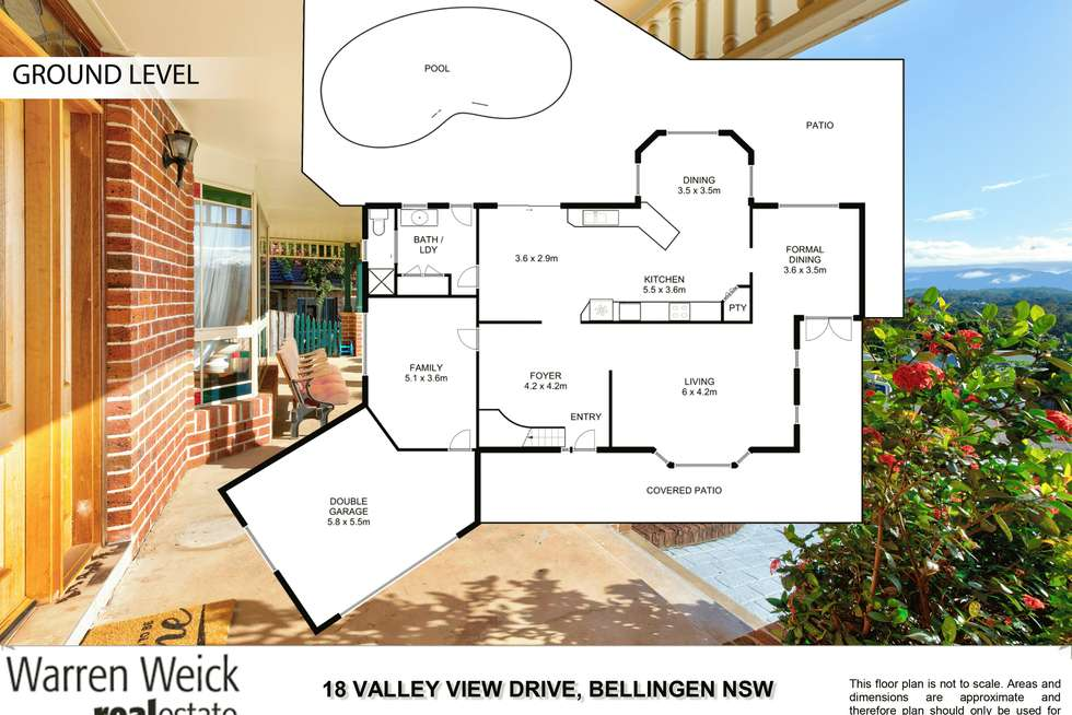 Floorplan of Homely house listing, 18 Valley View  Drive, Bellingen NSW 2454