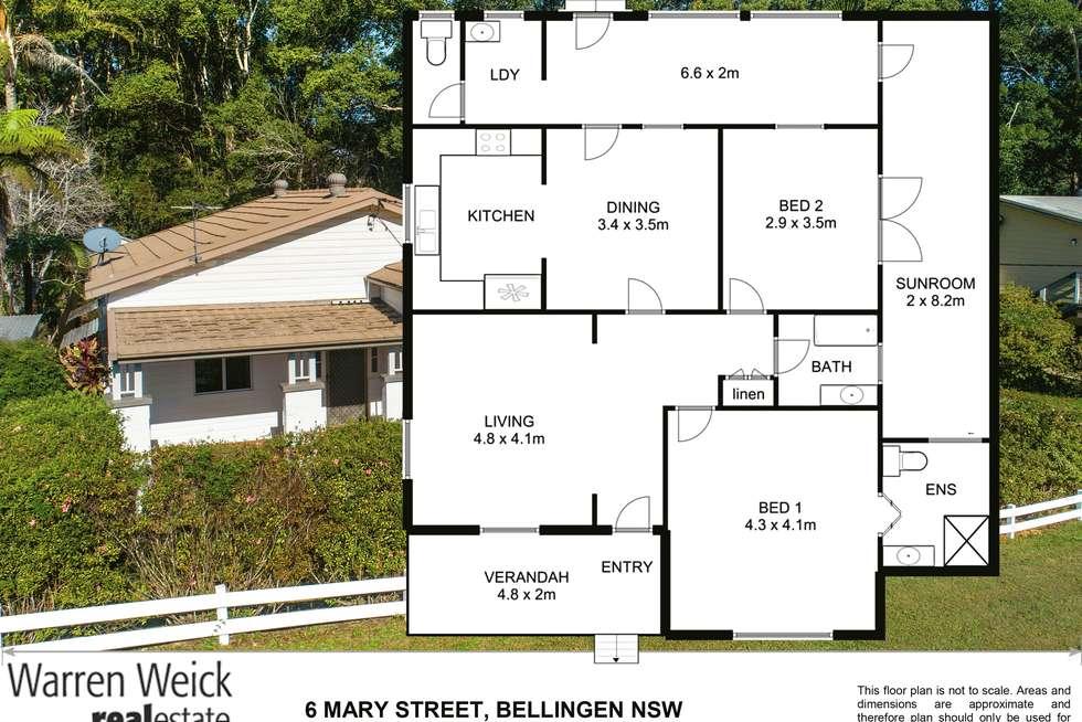 Floorplan of Homely house listing, 6 Mary Street, Bellingen NSW 2454