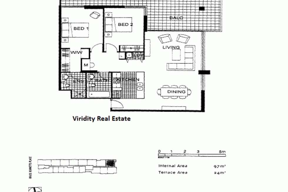 Floorplan of Homely apartment listing, 907/1 Bruce Bennetts  Place, Maroubra NSW 2035
